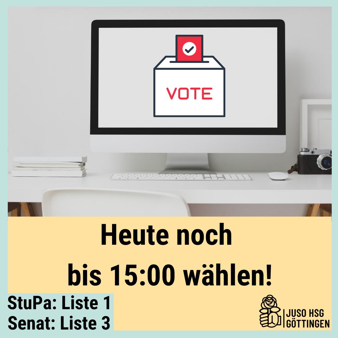 Heute noch bis 15:00 wählen